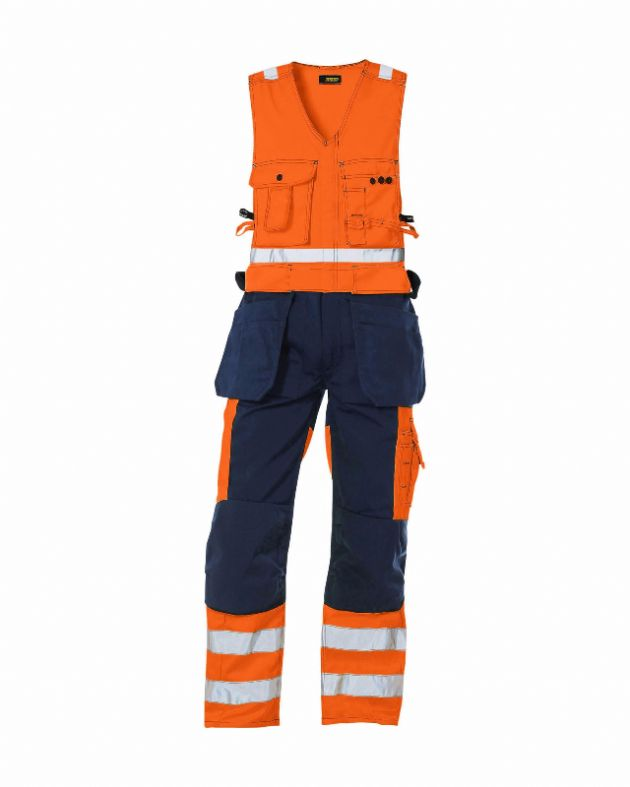 Blaklader Workwear | 2653 High Vis, Sleeveless Overall | High Visibility Clothing